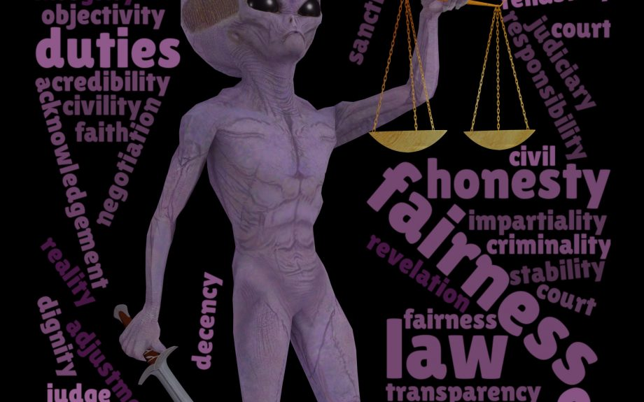Word Cloud Tarot – 11th Trump – Justice