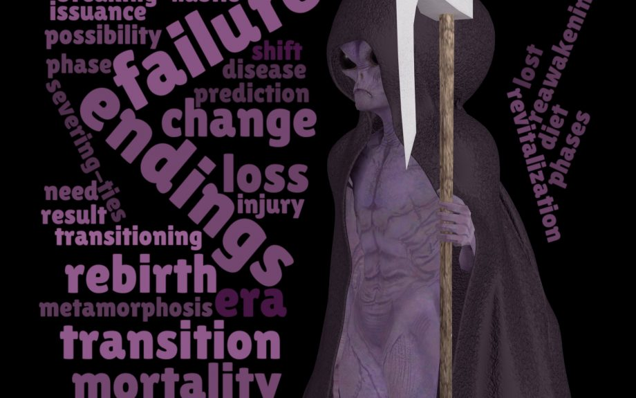 Word Cloud Tarot – 13th Trump – Death